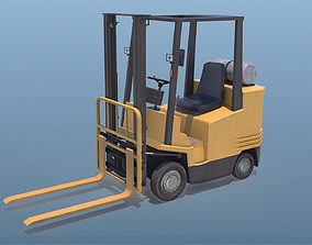 Forklit Truck 3D model game-ready