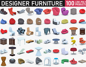 Designer Furniture Collection 3D asset