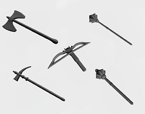 3D print model Arbalest maces and axes