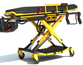 Ambulance Stretcher Trolley 3D model