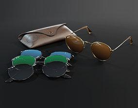 Ray-Ban round Sunglasses 3D
