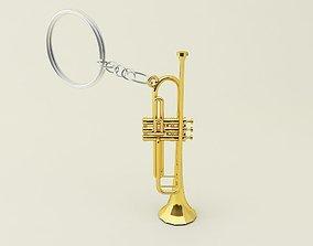 Trumpet Key Chain 3D printable model