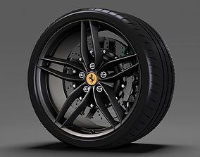 3D model Ferrari 488 Speedster wheel