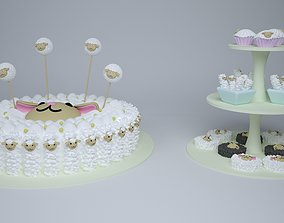 chocolate sheep cake 3d eid al adha withe cute for max
