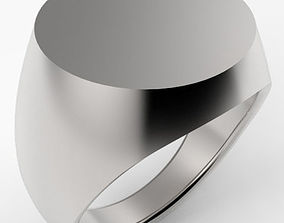 Round Top Signet Ring 3D print model