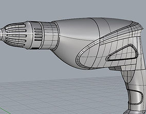 drill 3D model machine