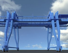 Gantry crane construction 3D model