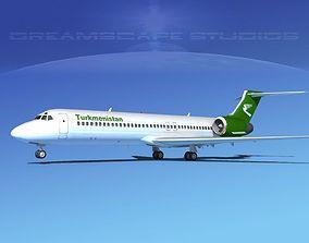 Boeing 717-200 Turkmenistan 3D model