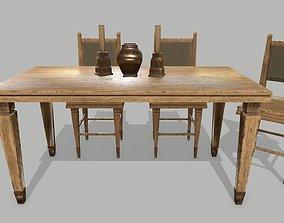 Table Set 3D model realtime
