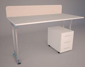 Modern Office Furniture N11 3D asset