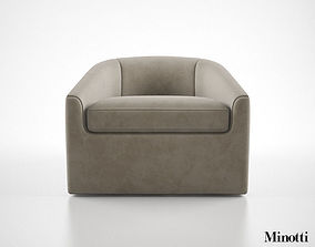 3D model Minotti Quinn Armchair