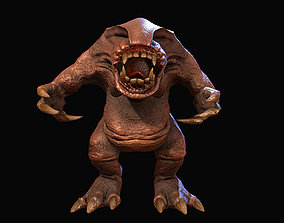 3D model of a fantastic creature karamba for animated 2