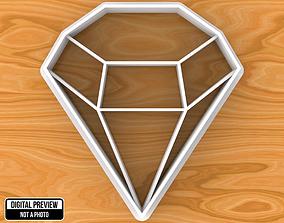 Diamond Cookie Cutter 3D printable model