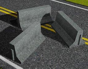 Concrete Road Block Sample 3D model