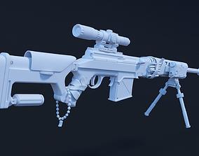 3D Customized SVT40 Sniper Rifle High Poly