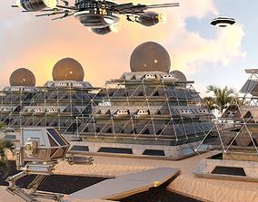 Pyramid City 01 3D