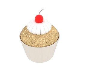 3D asset Cherry Cupcake