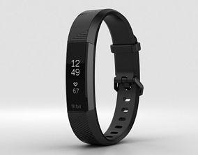 3D Fitbit Alta HR Black Gunmetal