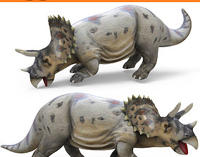 3D Realistic Triceratops Rigged and Animated animated