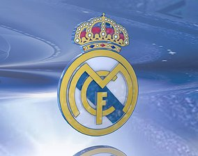 3D Real Madrid Shield