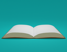 Book with empty pages 3D model