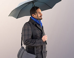 3D asset Sahir 11009 - Guy Walking with Umbrella