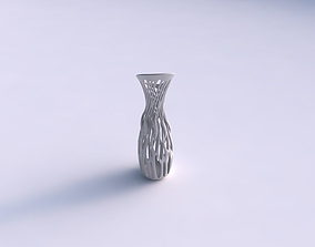 3D printable model Vase with twisted branches eccentric