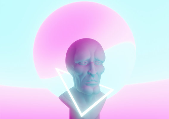 Handsome Squidward Vaporwave