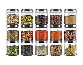 Spice bottles 3D model