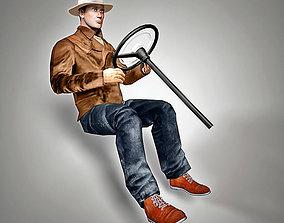Driver style 30s 3D model workman