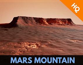 Mars Planet Mountain Desert Dunes Terrain 3D asset 2