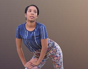 3D asset realtime Yanelle 10378 - Stretching Sport Girl