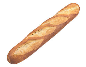 Photorealistic Baguette 3D Scan lunch
