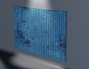 Dirty wall board 3D model
