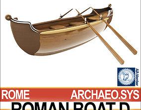 Ancient Roman Boat D 3D