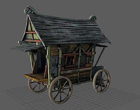 Fancy Medieval Caravan 3D asset