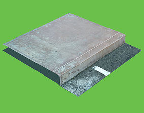 Concrete Sidewalk Curb 3D model