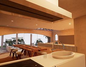 3D asset SHC Spanish Modern House 4