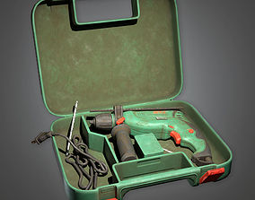 3D model game-ready Impact Drill TLS - PBR Game Ready