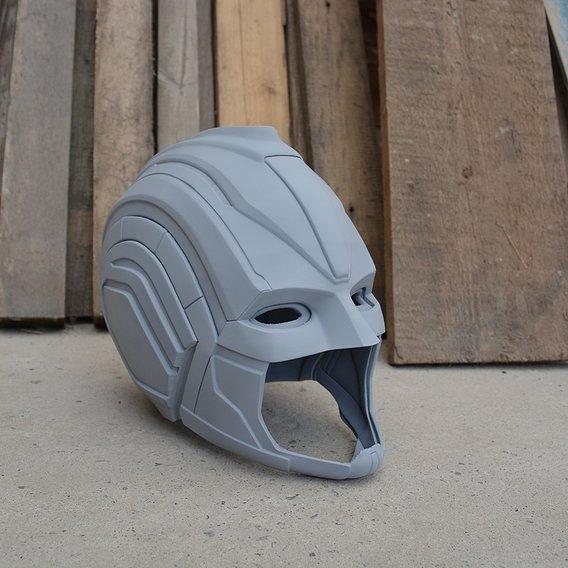 Captain Marvel superhero helmet