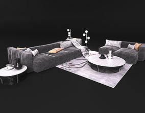 Sofa in modern style Bonaldo 3D model