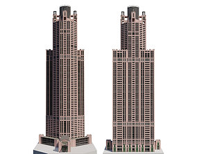 Chicago Building lowpoly 3D model