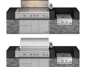 3D DCS gas grill series 9 Rotisserie and Charcoal with 1