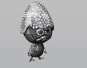 SCULPTURE CALIMERO JEWEL EMPTY DIAMONDS 3D printable model