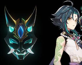 Xiao Genshin Impact Mask Version 2 Printable