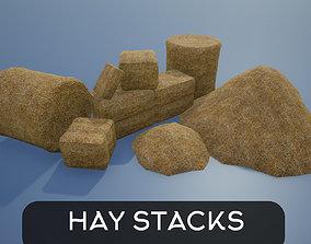 Lowpoly Hay Stacks 3D model