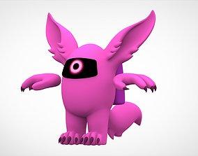 3D asset Among Us Pink Werewolf
