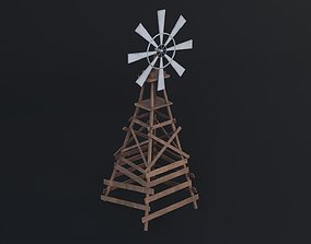 Old Wind Vane Game Ready Low Poly 3D Model low-poly