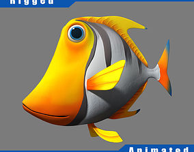 Cartoon fish03 rigged animated 3D