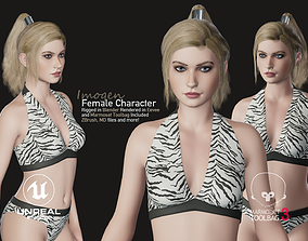 3D asset Imogen - Female Character Base Mesh Version 1